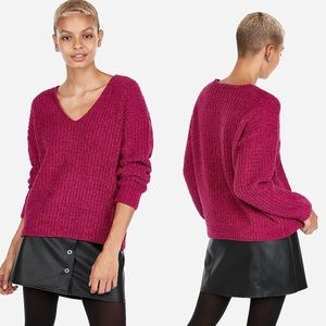 EXPRESS | Cozy Chenille V Neck Sweater